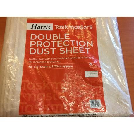 "Taskmasters Double Protection Dust Sheet 12""×9"" kétrétegű porvédő takaró"