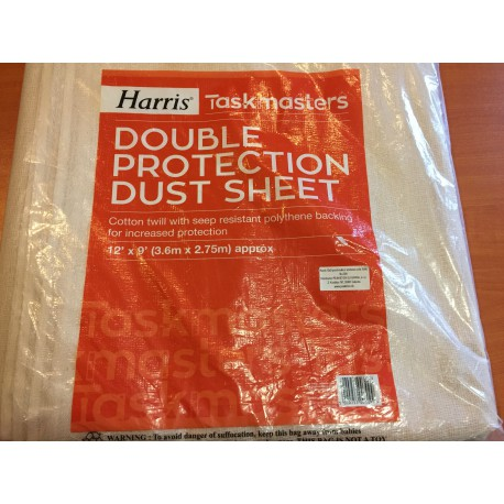 Taskmasters Double protection dust sheet - Prachovka s vrstvou ochrannej fólie