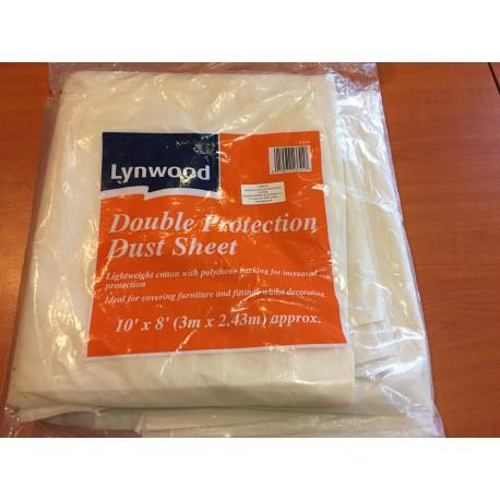 """Lynwood double protection dust sheet 10"""" x 8"""" könnyű kétoldalas takarófólia"""