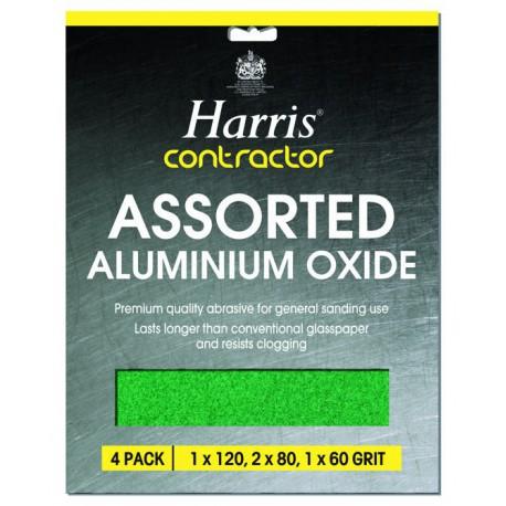 Harris Assorted Aluminium Oxide csiszolópapír szett (finom-közepes-durva) 4db-os