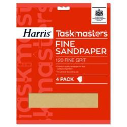 Harris Taskmasters Fine Sandpaper finom csiszolópapír 5db
