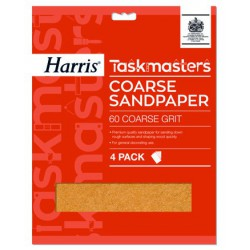 Harris Taskmasters Coarse Sandpaper durva csiszolópapír 4db-os