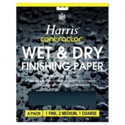 Harris Contractor 4 LISTY WET & DRY brúsny jemný papier na drevo