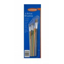 6 ARTIST sada umeleckých ŠTETCOV 6ks